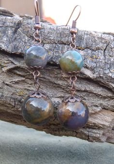 Agate Earrings by BazaarCharlotte on Etsy