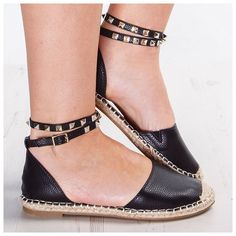 CLICK HERE http://www.youtube.com/channel/UCqEqHuax3qm6eGA6K06_MmQ?sub_confirmation=1 STUNNA SHOES  Add some serious attitude to your new season footwear with our killa' Kaiya Studded Espadrilles 14 shop from link in bio  by misspap