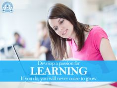 Find & develop your #passion for learning.
