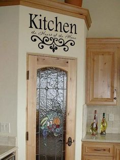 Image detail for -Kitchen Wall Quote Vinyl Decal Lettering Decor Sticky   eBay