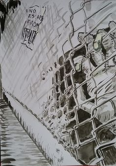 4/31 No escape from reality Nenhum fuga da realidade Sin salida de la realidad #Inktober #Inktober2016 #InktoberSpain2016 #jamesmccormackartist #bohemianrhapsody