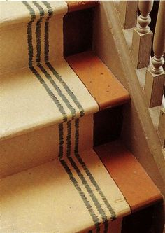 Paint a faux floor runner! Love this.....