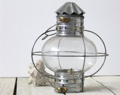 Beach Decor Lantern  Vintage Nautical Restored by SEASTYLE