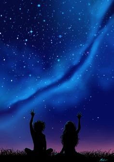 Yes please paisajes anime, galaxies, night sky drawing, night sky Anime Scenery Wallpaper, Galaxy Wallpaper, Wallpaper Backgrounds, Paar Illustration, Galaxy Art, Galaxy Anime, Sky Art, Night Skies, Cute Wallpapers