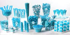 Caribbean Blue Candy Buffet - Party City