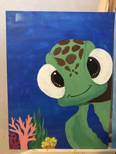 Items similar to Disney turtle canvas on Etsy – Painting Disney Canvas Paintings, Disney Canvas Art, Simple Canvas Paintings, Easy Canvas Art, Funny Paintings, Small Canvas Art, Mini Canvas Art, Acrylic Canvas, Beginner Canvas Painting Ideas