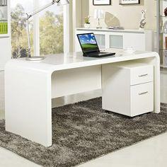 Aspen Home Office Desk - Buy Computer Desks - Milan Direct Simple Computer Desk, Buy Computer, Computer Desks, Desks For Small Spaces, Small Home Offices, Home Desk, Home Office Desks, Office Table, Office Decor