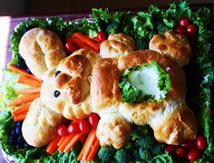 Easter Vegetable Tray! Got recipe off Pinterest! Loved!!! <3