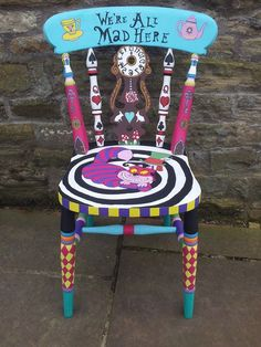 Painted Alice in Wonderland chair