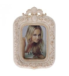POLYRESIN FRAME IN ANTIQUE WHITE COLOR 6X9