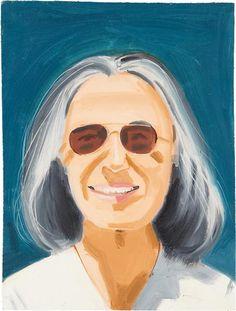 ALEX KATZ  Portrait of a Woman With Sunglasses,1995