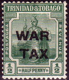 Trinidad and Tobago 1917 WAR TAX Overprint SG 182 Fine Mint Scott MR7  Other Trinidad and Tobago Stamps HERE