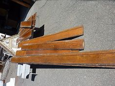 "salvaged c1890 victorian 93.5 linear FEET OAK baseboard molding ~ 9"" high"
