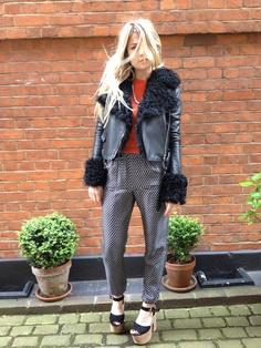 Wonderland Magazine's fashion editor Matilda Goad! Today she is rocking our Sea NY printed silk pants!