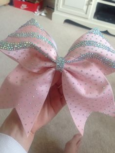 cheer workouts AURORA pastel pink diamonte covered cheer by PrettyLittleBowsUK Bling Cheer Bows, Cute Cheer Bows, Cheer Hair Bows, Cheer Mom, Diy Hair Bows, Cute Cheer Pictures, Team Pictures, Competition Bows, Dance Bows