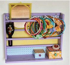 "Creative and Inspiring Children's Room Tour - cute idea for hair ""stuff"" storage"