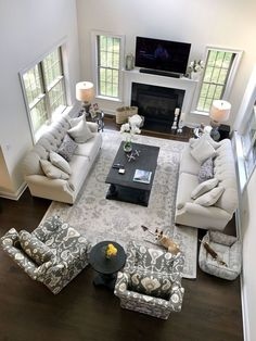 Whether you favor laminate, hardwood or plastic, rug, picking the excellent living room flooring can be tough. 46 Best Living Room Decor Ideas With Farmhouse Style Cheap Living Room Sets, Living Room Grey, Home Living Room, Living Room Designs, Living Room Layouts, Living Room Couches, Dark Floor Living Room, Apartment Living, Living Room Ideas With Dark Wood Floors
