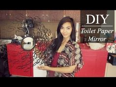 DIY Toilet Paper Mirror - YouTube