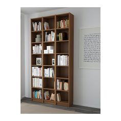 "BILLY Bookcase - brown ash veneer, 47 1/4x93 1/4x11 "" - IKEA"