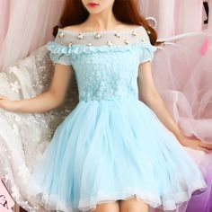 Japanese sweet princess floral lace dress