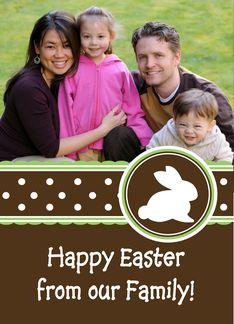 Yummy! Chocolate Brown Easter - Photo Card Greeting Card