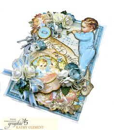 Graphic 45 Little Darlings Little Boy Blue Card Folio Little Darlings by Kathy Clement Product by Graphic 45 Photo 02 Scrapbook Albums, Scrapbook Layouts, Scrapbooking, Little Boy Blue, Graphic 45, Little Darlings, Cool Baby Stuff, Baby Cards, Mini Albums