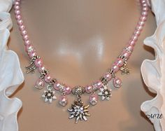 National costume chain with edelweiss and strass by Edelweiss51