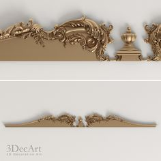 3D model of the decorative cornice is divided into separate parts and is fully prepared for production on CNC machines.