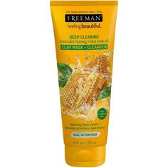 Freeman Deep Clearing Facial Clay Mask + Cleanser, Manuka Honey + Tea Tree Oil 6 oz The post Freeman Deep Clearing Facial Clay Mask + Cleanser, Manuka Honey + Tea Tree Oil 6 oz appeared first on Best Pins for Yours - Diy Face Mask Cleanser For Oily Skin, Facial Cleanser, Moisturizer, Freeman Face Mask, Tea Tree Oil For Acne, Honey Face, Natural Exfoliant, Homemade Facials, Homemade Scrub