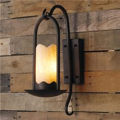 Iron Branches Stone Candle Sconce