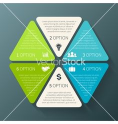 Hexagon+infographic+template+for+diagram+graph+vector+3173245+-+by+theseamuss on VectorStock®