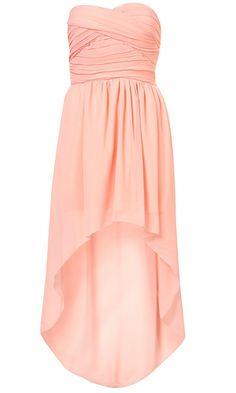 Topshop Mullet Hem Dress By Rare