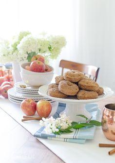 Harvest Apple Spice Donut Recipe - A Burst of Beautiful Apple Recipes, Fall Recipes, Holiday Recipes, Healthy Recipes, Donut Maker Recipes, Apple Pie Ice Cream, Appetizer Recipes, Dessert Recipes, Gluten Free Apple Crisp