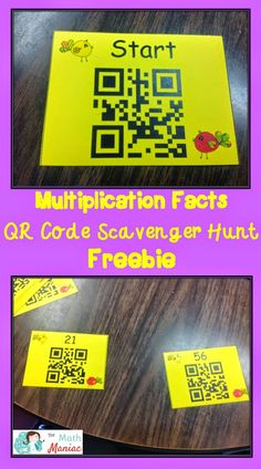 The Elementary Math Maniac: QR Code Scavenger Hunt: Fluency with Multiplication Facts
