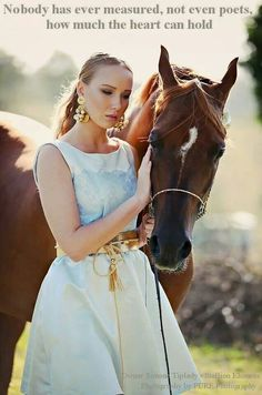 Model with my stallion, Khouros