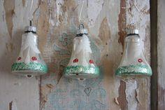 Set of Three Mercury Glass Bell Christmas by RetroKombinat on Etsy, $20.00