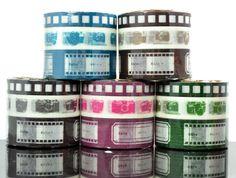 $8.25. Camera tape with photo tags.    20mmx15m - label  15mmx15m - camera  10mmx15m - film strip