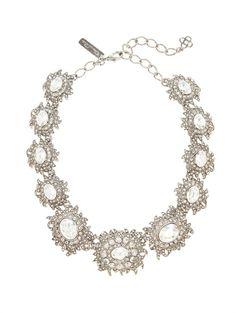 Shop now: Oscar de la Renta Light Antique Silver Necklace