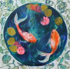 Circle Pond- Original painting by Maria Pace-Wynters