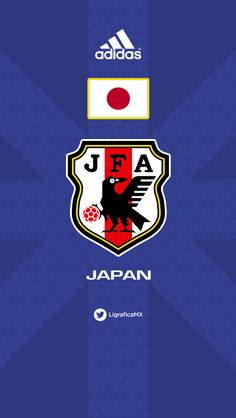 #JAPAN 07114CTG #LigraficaMX Football Troll, Football Kits, Football Soccer, Soccer Teams, Team Wallpaper, Football Wallpaper, Captain Tsubasa, Fifa, Japan Soccer