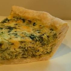 Light and Fluffy Spinach Quiche Allrecipes.com
