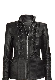 Handmade Women black Leather Jacket women by customdesignmaster, $189.99