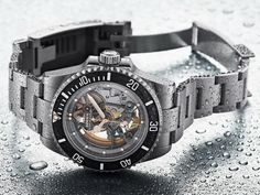 """Meet an incredible take on the Rolex Submariner a special request from famous football player, the Artisans de Genève """"Andrea Pirlo Project"""" Rolex Submariner, Grills Teeth, Location Chalet, Andrea Pirlo, Monochrome Watches, Unique Clocks, Rolex Models, Luxury Lifestyle, Skeleton"""