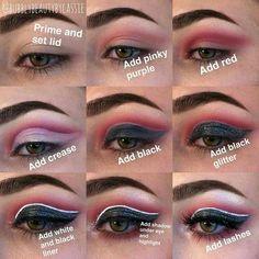 Dramatic Eyeshadow, Eyeshadow Looks, Exotic Eye Makeup, Eyeshadow Tutorials, Makeup Tutorials, Makeup Ideas, Eyeshadow Step By Step, Blue Green Eyes, Eye Make Up