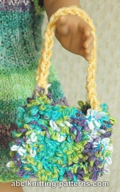 ABC Knitting Patterns - Doll Fluffy Bag