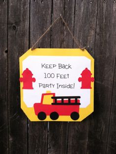 Hey, I found this really awesome Etsy listing at http://www.etsy.com/listing/153351653/fire-dogfire-truck-birthday-door-sign