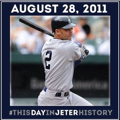 Derek Jeter passes Mickey Mantle as the team's all-time leader in games played.