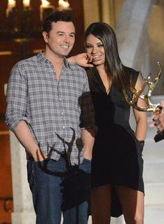 Pin for Later: Revivez les meilleurs moments des Best Guys Choice Awards !  Mila Kunis et Seth MacFarlane en 2012 aux Guys Choice Awards.
