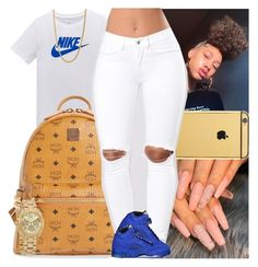 """""""Untitled #1611"""" by msixo ❤ liked on Polyvore featuring NIKE, Goldgenie, MCM and Michael Kors Swag Outfits For Girls, Cute Swag Outfits, Teenager Outfits, Teen Fashion Outfits, Summer Outfits, Jordan Outfits, Nike Outfits, School Outfits, Baddie Outfits Casual"""