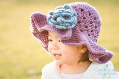 CROCHET PATTERN  Crossed Cluster Sunhat by speckledfrogcrochet, $5.99